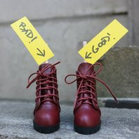 Foot – Lace Boots (Wine Red)
