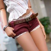 Bottom – Short Jeans (Wine Red)