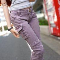 Bottom – Cargo Pants (Pastel Purple)